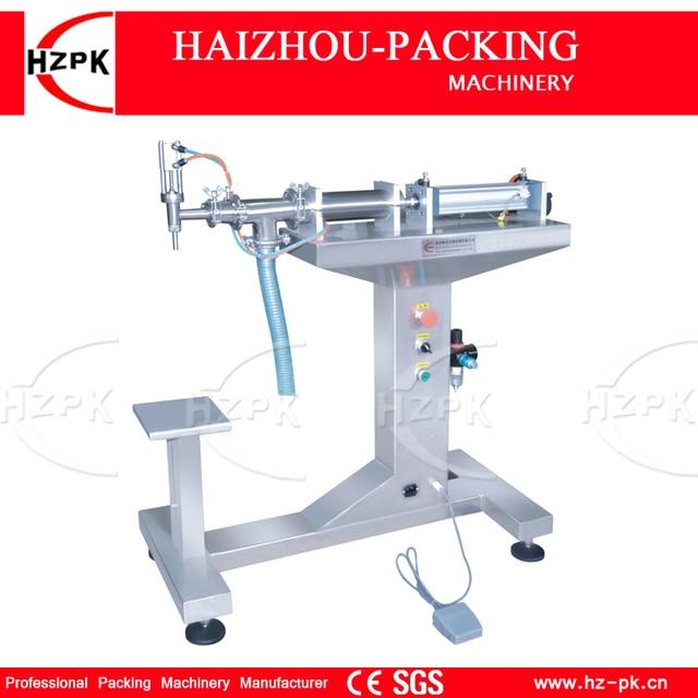 HZPK Vertical Single Head Liquid Filling Machine Electric&Pneumatic For Food Processor Filler Small Packer 1000-5000ml G1LYD5000
