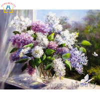 Diy Coloring Picture By Numbers Painting Calligraphy Canvas Pictures For Living Room Drawing By Number Flowers