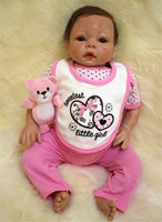 20inches 50CM silicone reborn doll Bonecas Baby Reborn realistic magnetic pacifier bebe doll reborn for girl Gift NPK