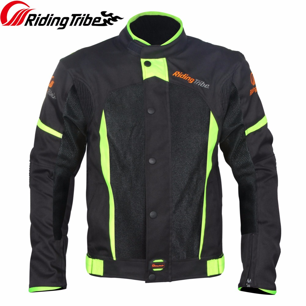 Riding Tribe Motorcycle Jacket Summer Breathable Motocross Off-Road Racing Coat Moto Biker Clothing Protective Gear Armor JK-37 riding tribe men motocross off road racing jacket motorcycle windproof waterproof riding travel clothing with 5 protective gear