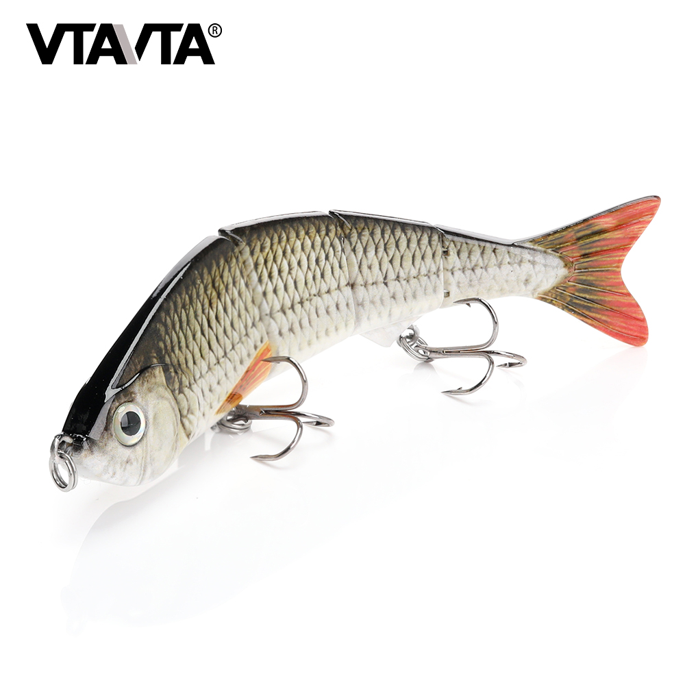 TREHOOK 12cm 16g Sinking Wobbler Fihisng Lure Hard Bait 4 Segments Jointed Artificial Bait for Sea Fishing-in Fishing Lures from Sports & Entertainment
