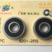 Купить с кэшбэком 6201-2RS 12x32x10mm Rotate Quiet High Speed and Durable, Double Seal and Pre-Lubricated, Deep Groove Ball Bearings.