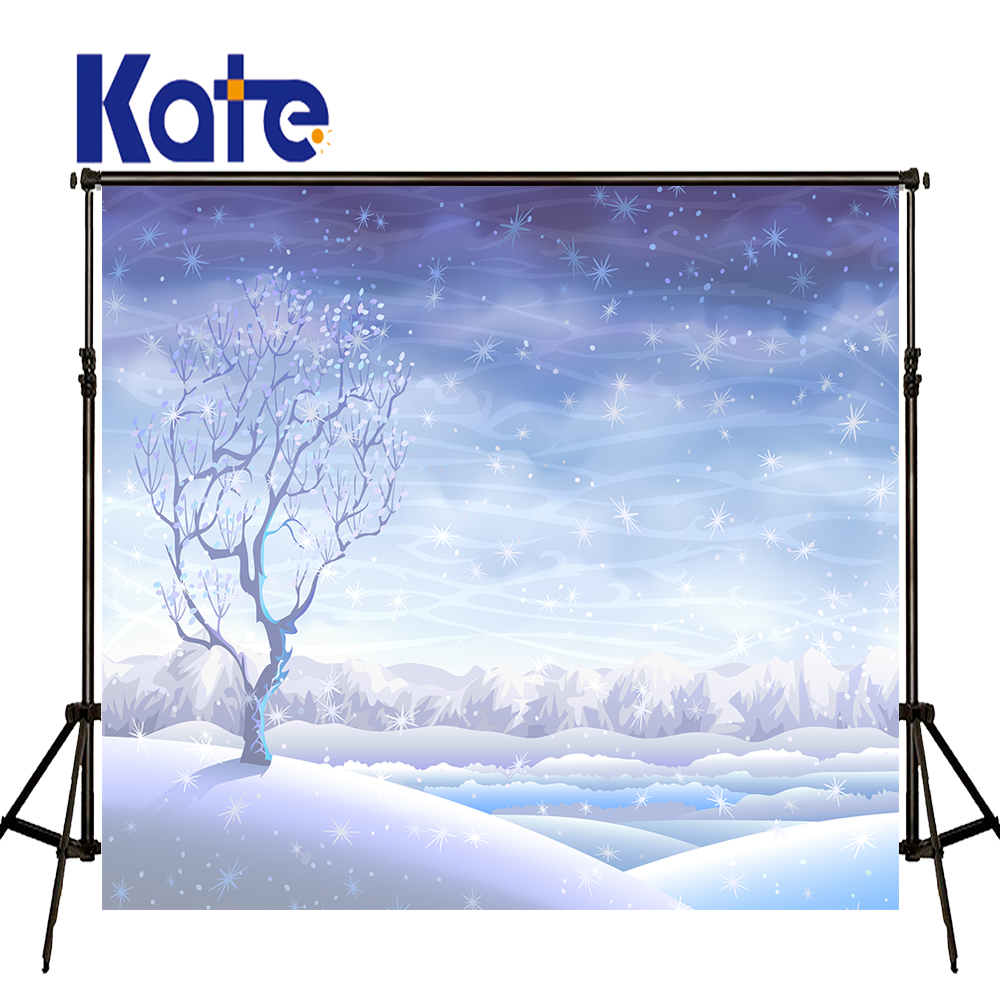 KATE Photo Background Christmas Backdrop Blue Fairy Tale World Backdrops Newborn Backdrops Winter Snow Photo for Children Studio