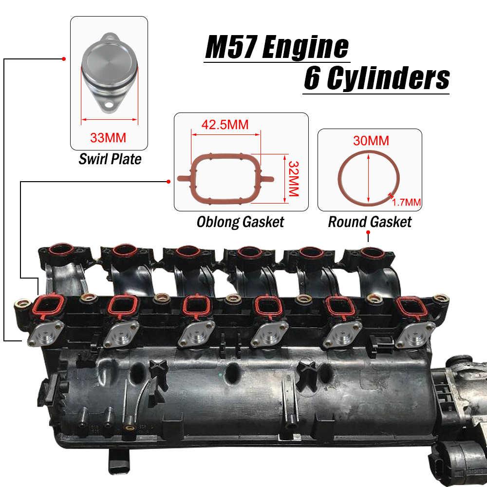 6x32-33mm girdap Flap yedek boş Bungs ile emme manifoldu contaları boşluk plaka BMW E38 e39 E46 E53 JR-IMK02