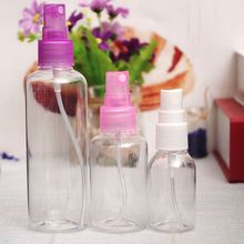 1PC 30ml 50ml 100ml Random Color Travel Transparent Plastic Perfume Atomizer Small MIni Empty Spray Refillable Bottle