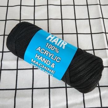 mylb Desire for hair yarn 5pcs Brazilian wool hair low temprature flame retardant synthetic fiber for braiding