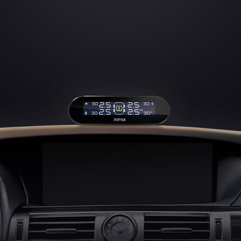 Xiaomi 70mai moniteur de pression des pneus tpms système anglais APP énergie solaire usb android USB tmps 70 mai capteurs de voiture système d'alarme