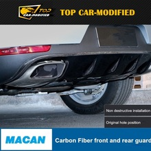 Бесплатная доставка Macan спереди and заднего бампера, Авто Front задний бампер автомобиля Front and сзади мини пластина для Porsche углеродное волокно