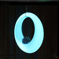 Диаметр 150 см 59in Светодиодный свет красочный качели водонепроницаемый световой Garden Party декоративные трапеция пейзаж свет открытый/закрытый