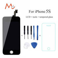 For IPhone 5s LCD Screen Replacement White Black Display Touch Screen Assembly No Dead Pixel Tools