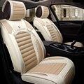 5 Colores de fibra universal fit transpirable asiento de coche de lino cubre para 2016 otoño saludable amortiguadores del coche para opel astra h XRL03