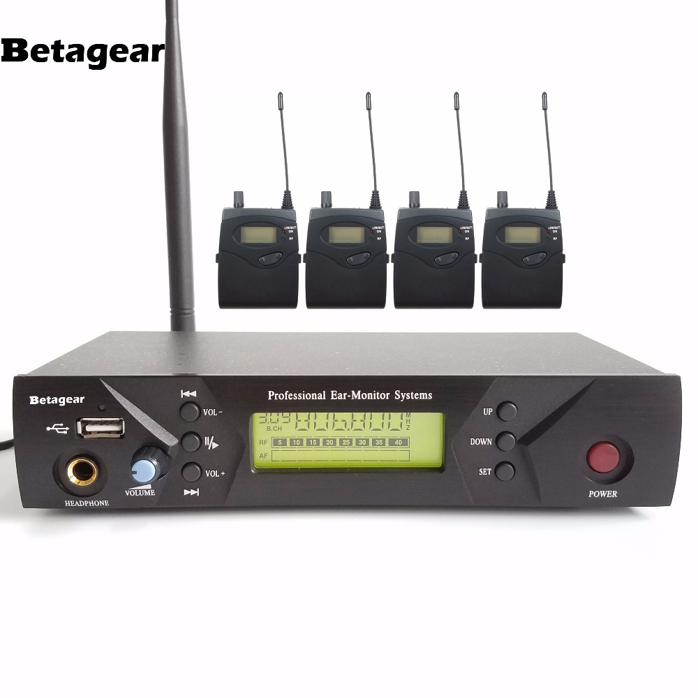 betagear uhf wireless in ear monitor system in ear stage wireless monitor system iem 510 4. Black Bedroom Furniture Sets. Home Design Ideas