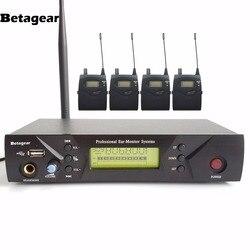 Betagear UHF Wireless In-Ear Monitor System In Ear Stage Wireless Monitor System IEM 510 4 Receivers 1 Transmitter