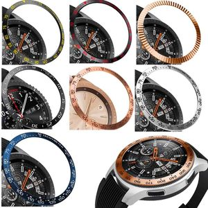 steel For Samsung Galaxy Watch 42MM/46MM/Gear S3 Frontier Bezel Ring Adhesive Anti Scratch Metal Cover Smart Watch Accessories(China)