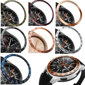 steel For Samsung Galaxy Watch 42MM/46MM/Gear S3 Frontier Bezel Ring Adhesive Anti Scratch Metal Cover Smart Accessories - discount item  45% OFF Watches Accessories