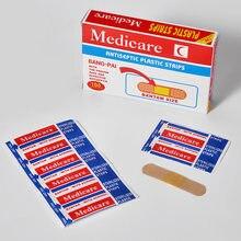 100Pcs/Box Atmungs Band-Aids Nicht-woven Bandagen Erste Hilfe Medizinische Anti-Bakterien Wundpflaster home Reise Notfall Kits