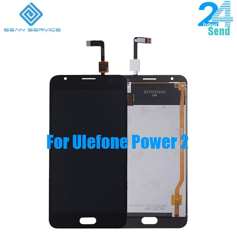 Für 100% Original Ulefone Power 2 LCD Display + TP Touchscreen Digitizer Montage + Werkzeuge 5,5
