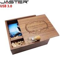 JASTER USB 3.0 205*205*60mm Photo Album Wooden usb flash drive Pendrive 4GB 8GB 16GB 32GB custom LOGO Photography Wedding GIFT