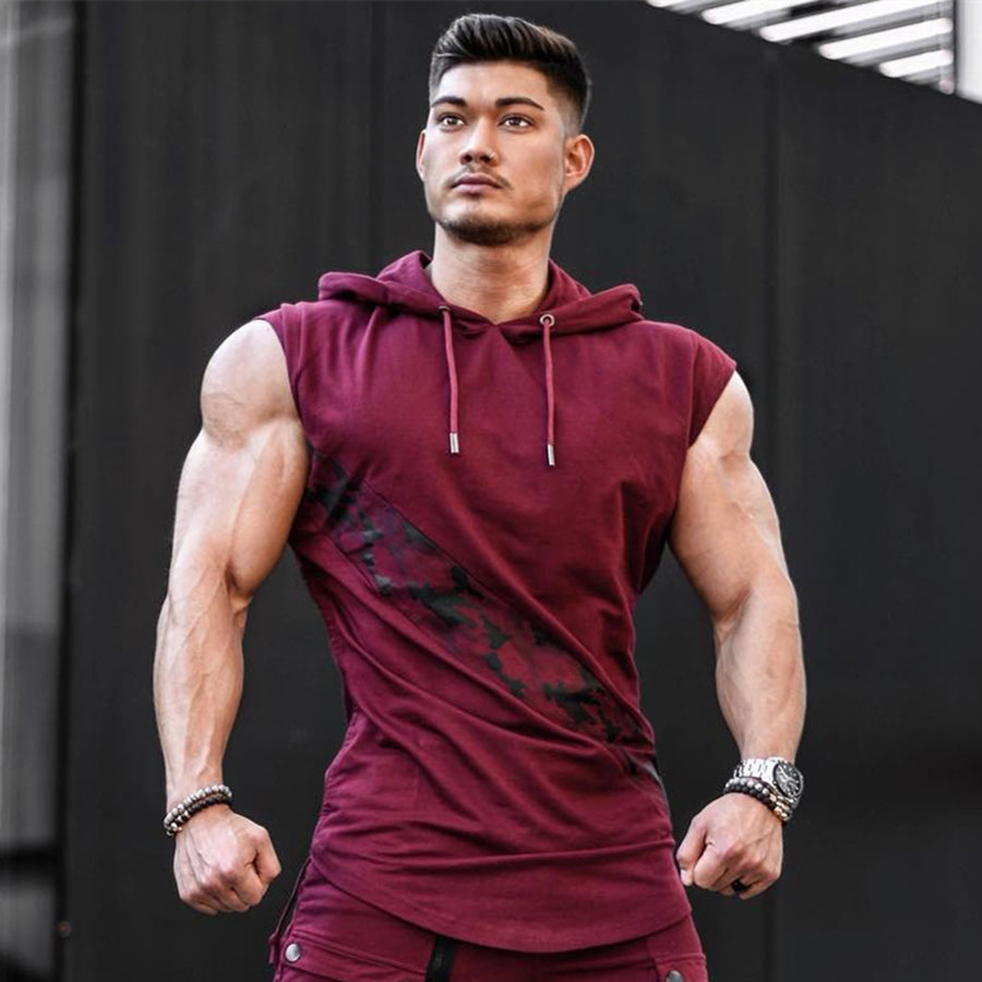 Gym Men Tank Top Bodybuilding Sleeveless Casual Shirts fitness Cross fit Vest