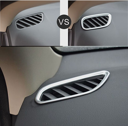 ACCESSORIES FIT FOR <font><b>2016</b></font> MITSUBISHI <font><b>OUTLANDER</b></font> FRONT AIR VENT OUTLET CHROME COVER FRAME BEZEL TRIM INSERT image