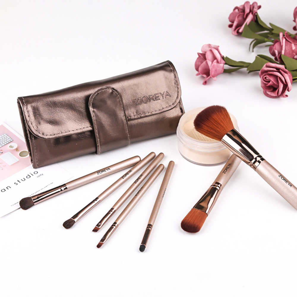 7/8/10pcs High Quality Rose Gold Makeup brushes set +Storage bag Beauty Foundation Powder Eyeshadow Make up Brush J75