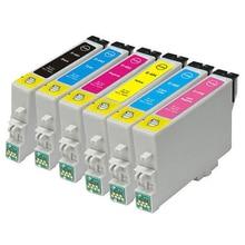 6x EPSON совместимый T0487 XL чернильных картриджей для стилусы фото R200 R220 R300 Rx500 RX590 Rx600 Rx620 принтер