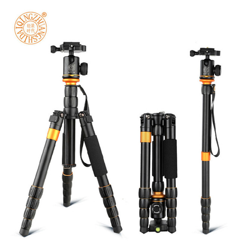 New QZSD Q278 Lightweight Compact Tripod Monopod & Professional Ball Head for Canon Nikon DSLR Camera / Portable Camera Stand qzsd q999 62 2 inches lightweight tripod monopod
