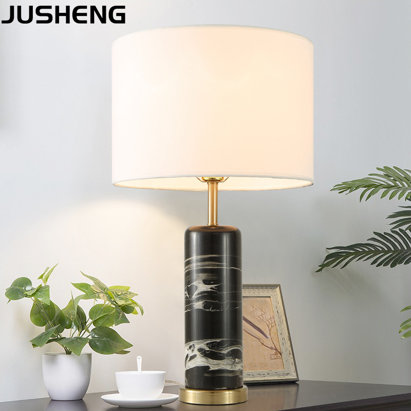 JUSHENG Modern Bedroom Marble Table Lamp for decoration bedside lamp