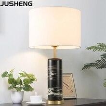 JUSHENG Modern Bedroom Marble Table Lamp for decoration bedside lamp