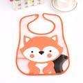 Bebé baberos impermeables fox patrón animal de la historieta niños de los baberos infantiles paños del burp toalla ropa de marca niños ropa accesorios