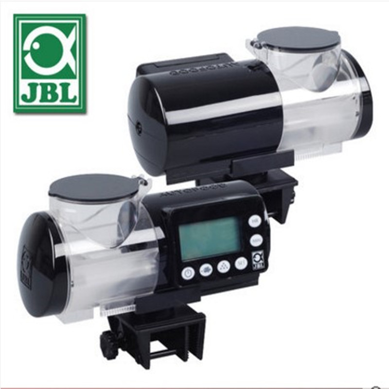 JBL auto feeder elektronische LCD display digital programm fischfutter feed granulat pellets aquarium weiß schwarz-in Zubringer aus Heim und Garten bei  Gruppe 1