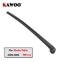 KAWOO Car Rear Wiper Blade Blades Back Window Wipers Arm For Skoda Fabia Hatchback 2000 2008