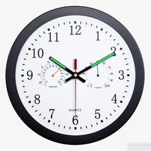 Metal Wall Clock modern design Thermometer Watch Mechanism Secret Stash Wall Clocks Luminous Relogio Parede Home Decor 50ZB260 luxury metal wall clock modern design art metal wall watch mechanism home decor wall clocks relogio parede decor