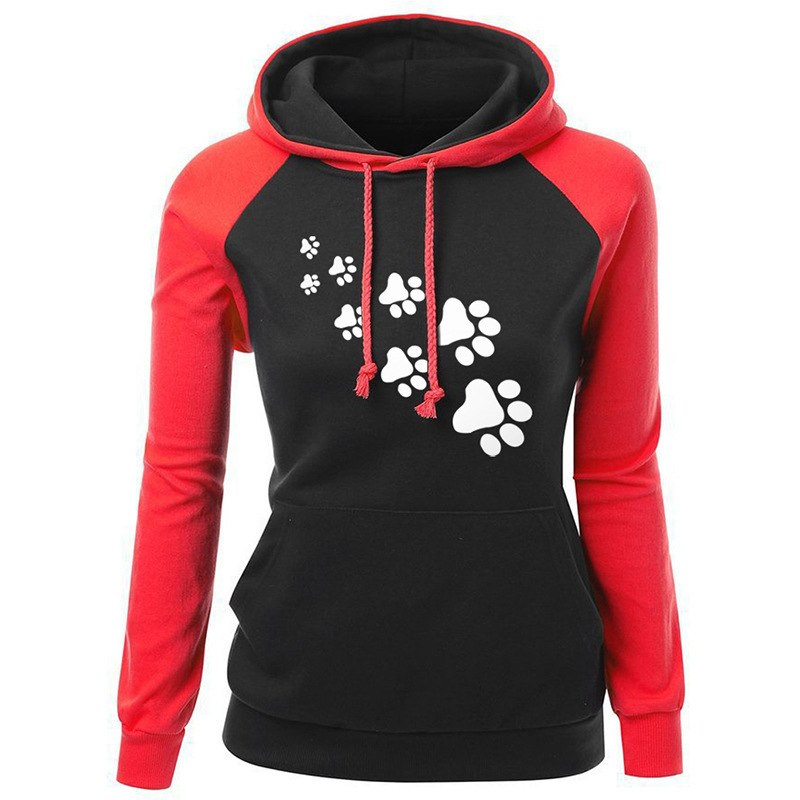 Women's Clothing 2018 Patch Cute Dog Plus Cashmere Autumn Lace Stitching Long-sleeved Wild Letter Female Jacket Zr89