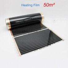 50M2 инфракрасная напольная нагревательная пленка 220 Вт/кв. м ширина выбрать Infared нагревательная пленка для домашнего обогрева