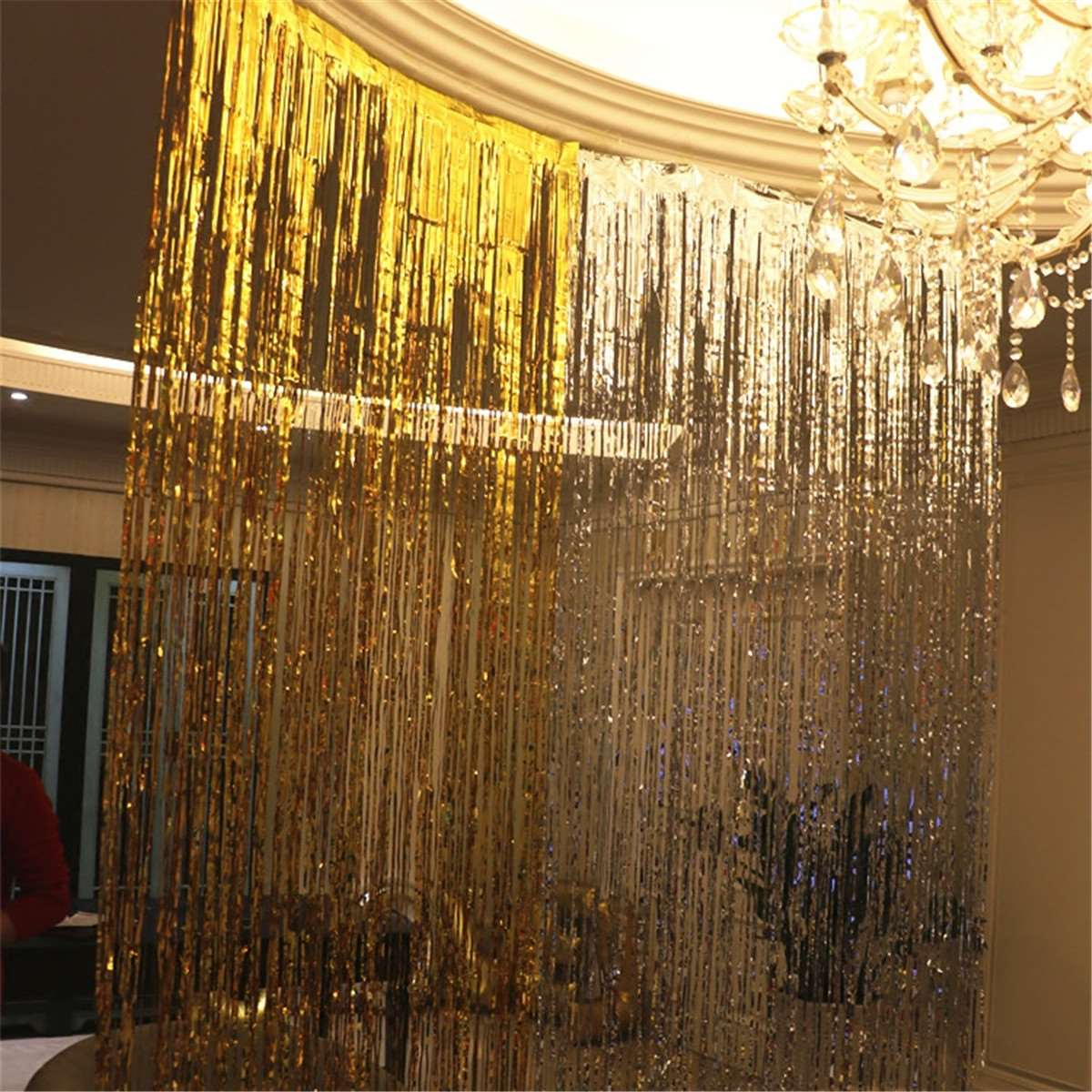 Glitter Plastic Metallic Foil Tinsel Curtain Fringe Events Party Supplies Wedding Birthday Favor Design Decorative Crafts Aliexpress