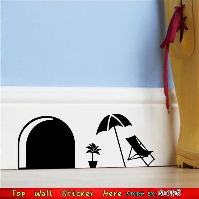 nette maus loch wasserdichte wandaufkleber fr schublade kinderzimmer dekoration wand papier handwerk haus ornamente supplies - Kinderzimmer Dekoration Handwerk