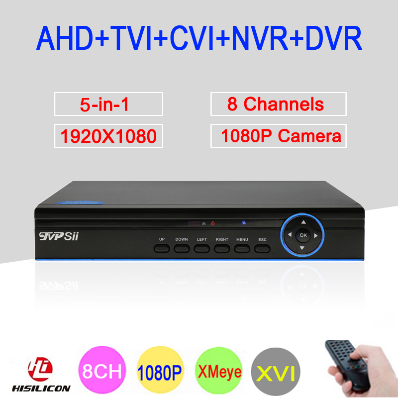 XM Hisilion Sensor Four In One 8 Channel 1080P 960P 720P 960H Coaxial TVI AHD NVR