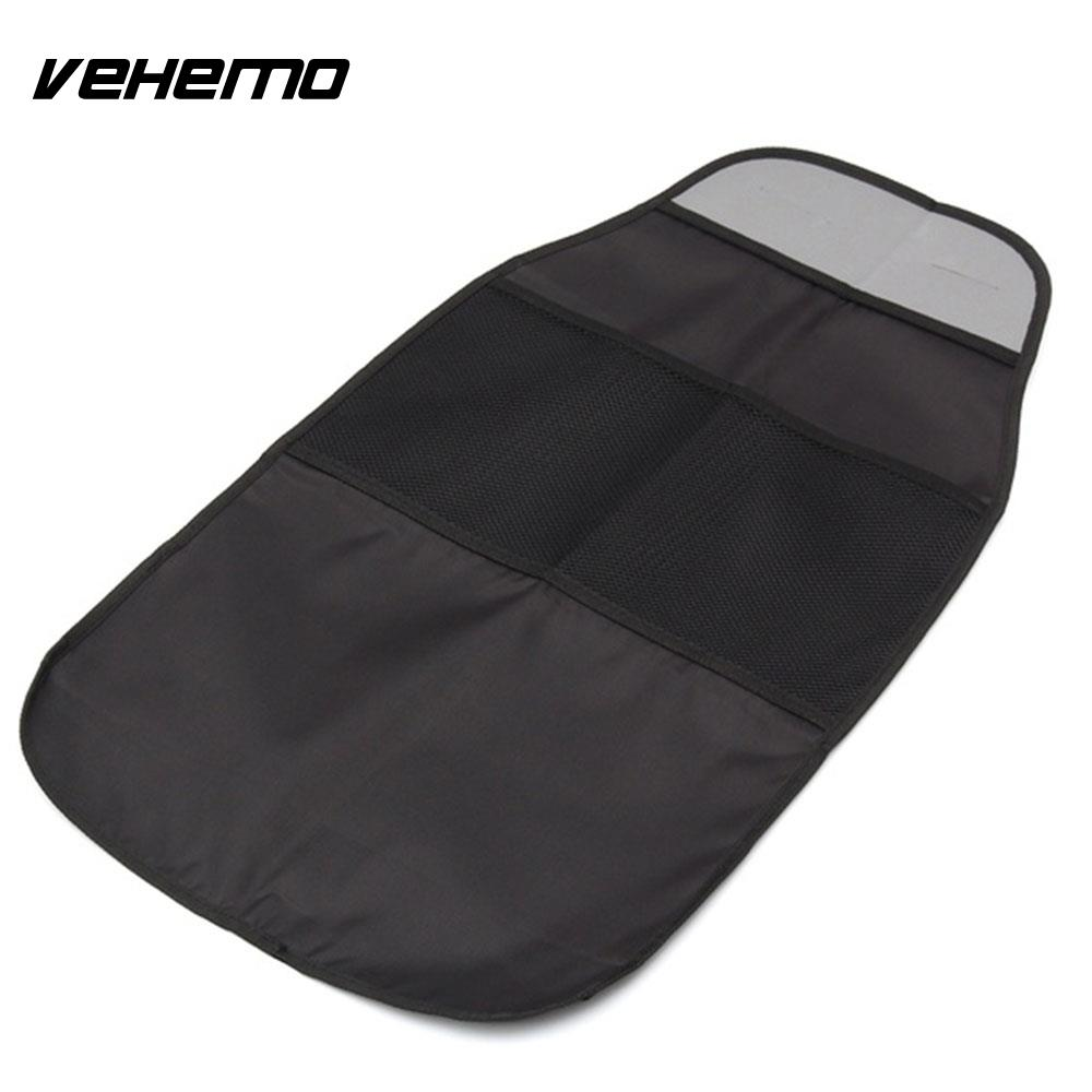 Black Universal Multi-Function Seat Back Protector Car Care Protector Car Car Styling Seat Back Bag Children Mat Automobile