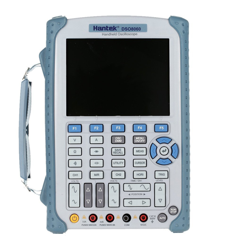 Hantek DSO8060 Digital Multimeter Oscilloscope 2 Channels 60Mhz Handheld Osciloscopio Portatil 5 in 1 Spectrum Analyzer