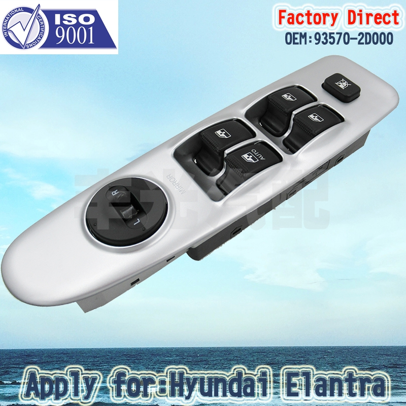 Factory Direct Electric Power Window Master Control Switch Apply For Hyundai Elantra LHD 93570-2D000  Without Auto Function