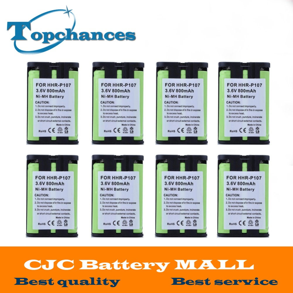Replacement Batteries Honesty 8pcs/lot High Quality 3.6v 800mah Cordless Phone Battery For Panasonic Hhr-p107 Hhrp107 Hhrp107a/1b Free Shipping Sophisticated Technologies