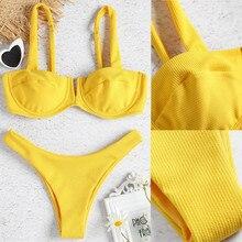Bikini 2019 Sexy Women Bandage Bikini Set Push-Up Brazilian Swimwear Beachwear Swimsuit High Waist Swimsuits Biquini  Strap