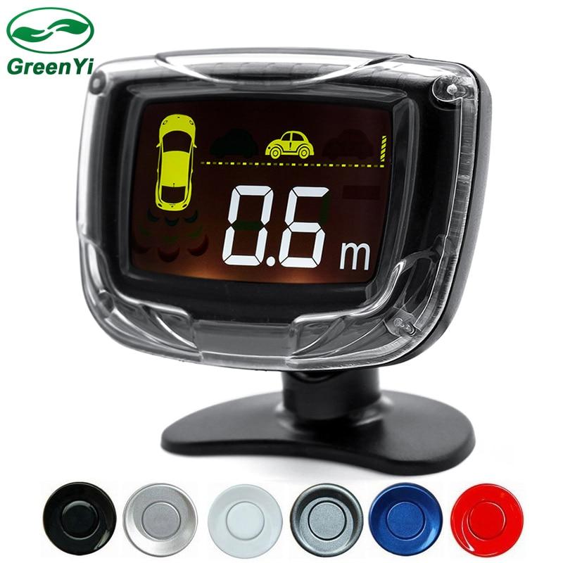 imágenes para Pantalla LCD Sensor De Aparcamiento del coche LED 4 Sensores de Parking Auto Reverse Radar System Backup Detector Kit