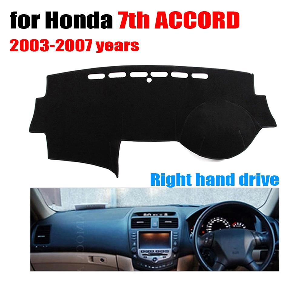 Cubiertas del tablero de instrumentos del coche para Honda 7th ACCORD 2003 a 2007 mano derecha cojines Auto dashboard protector Accesorios