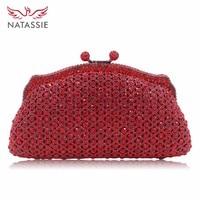 2016 New Women Luxury Diamonds Evening Handbag Crystal Clutch Bag Party Leather Purse