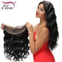 Elva الشعر قبل التقطه الرباط أمامي إغلاق 13x4 جسم موجة 8-18 بوصة البرازيلي ريمي الشعر مع شعر الطفل شعري الطبيعي الشحن جزء