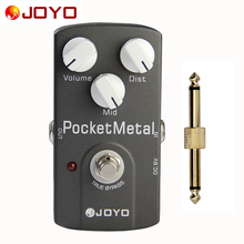 JOYO Pedal JF-35 Pocket Metal Distortion True Bypass Effects Pedal with 1 Pedal Connector / Electric Guitar Single Effects