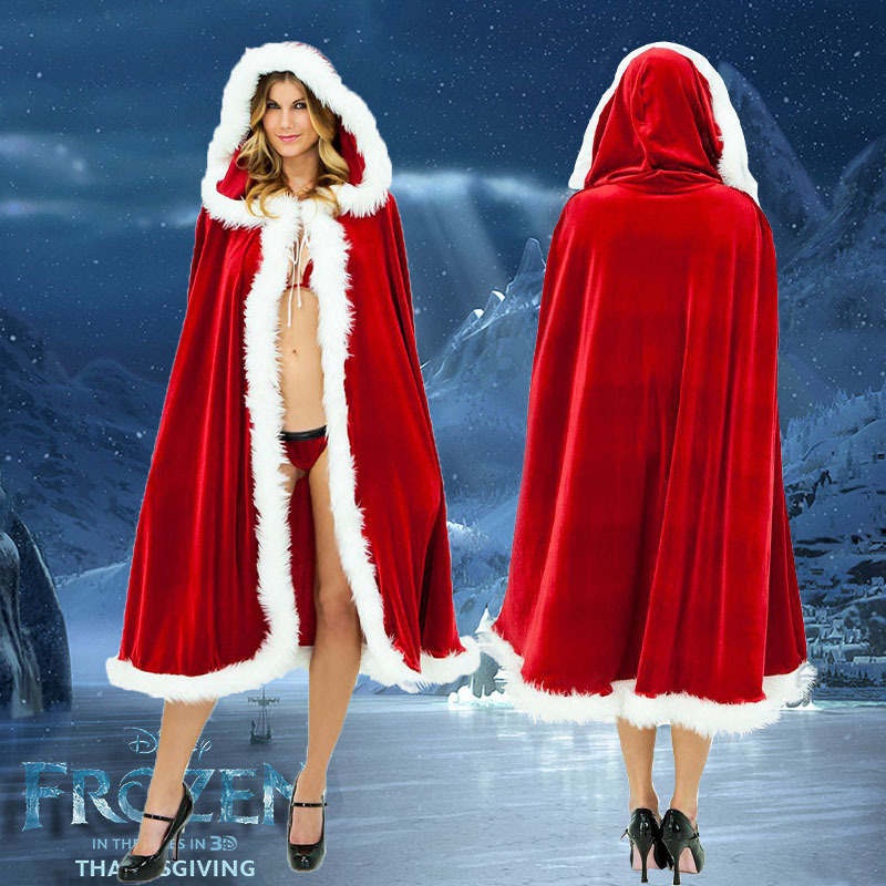 kid adult  christmas clothes red santa cape Christmas fairy elves Santa Claus Cloak christmas party Halloween cosplay Costume