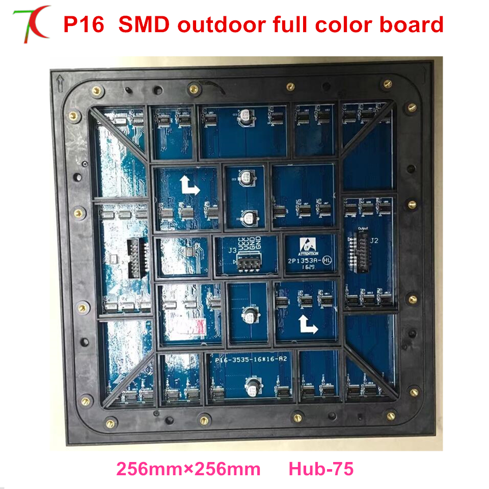 Waterproof P16 smd outdoor full color module for huge advertising video screen ,256*256mm,5500cd